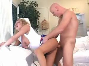 Blond ts and bald guy fuck hard each others asses