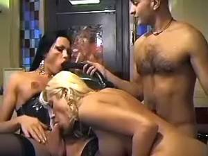 Crazy threesome with kinky toys on pool table