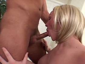 Tranny and guy fuck each other and she gets facial