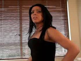 Cute brunette tranny and guy suck dicks each other